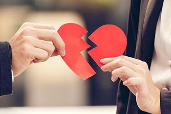 Trennung - gebrochenes Herz